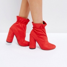Bottines rouges Asos