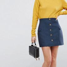 ASOS Tailored - Mini-jupe ajustée taille ultra haute avec boutons et poche