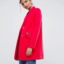 Manteau rose Asos